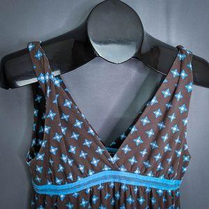 Lucky Brand Dresses - Lucky Brand Dress Size Medium Blue Brown Womens